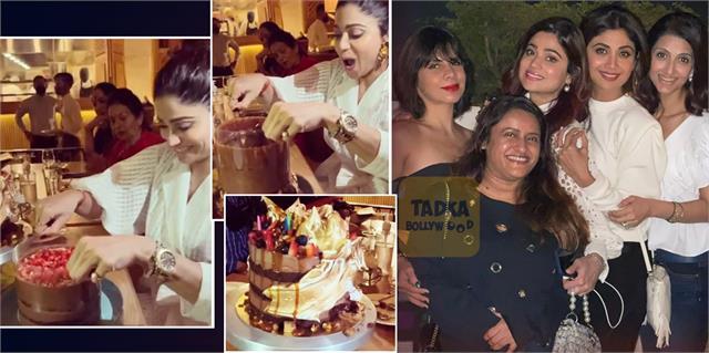 shilpa shetty shares a video of sister shamita shetty cutting her birthday cake