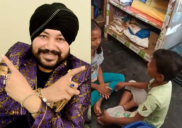daler mehndi impressed with children singing talent