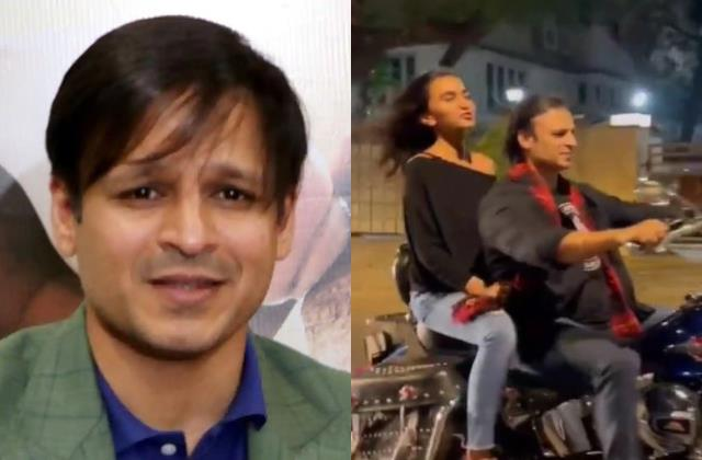 vivek oberoi riding bike without helmet mumbai police issued challan