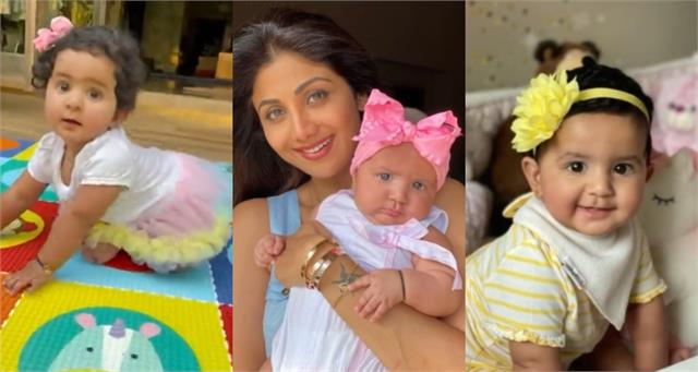 shilpa shetty share cute video of daughter samisha on her first birthday