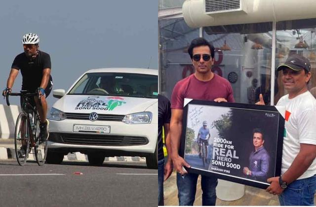 narayan vyas cycle ride 2000 kilometer to meet actor sonu sood