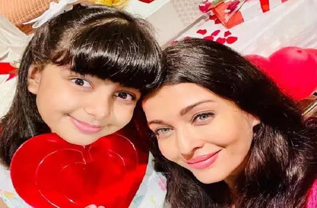 aishwarya rai bachchan celebrates valentines day with daughter aaradhya