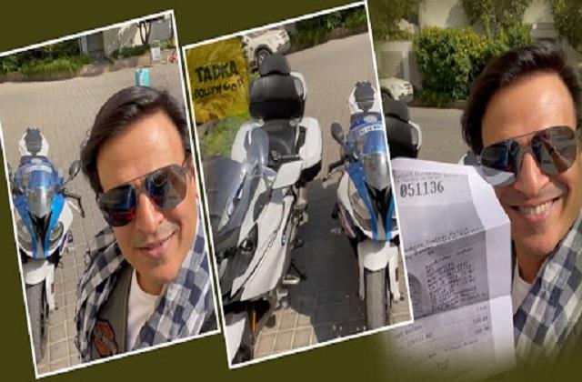 vivek oberoi shared pawri hori hai meme video on his challan