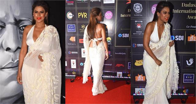 nia sharma stylish appearance at dadasaheb phalke awards