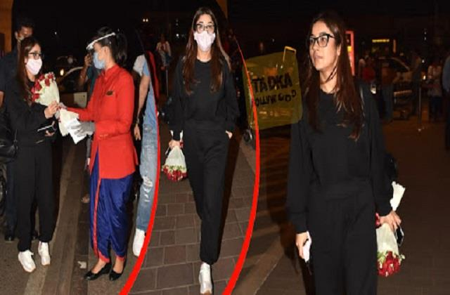 shehnaaz gill spotted at the airport