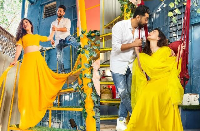 gauahar khan and zaid darbar romantic photos viral