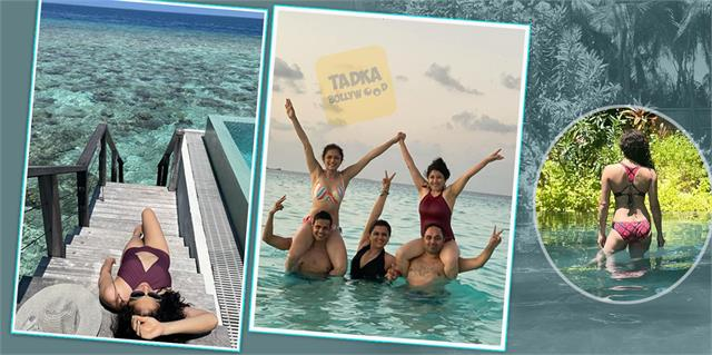 drashti dhami enjoy vacation in maldives with hubby and friends