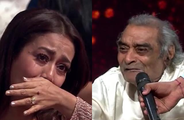 neha kakkar start crying after hearing veteran lyricist santosh anand story