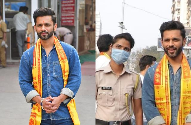 bigg boss 14 fame rahul vaidya seeks lord ganesha blessings at siddhivinayak