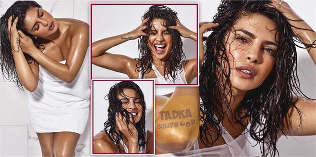 priyanka chopra sizzling photoshoot in bathroom