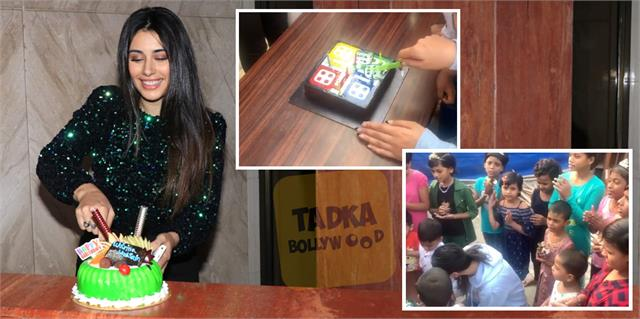 warina hussain celebrated her birthday with media and children