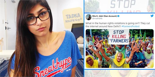 after rihanna mia khalifa tweets in support of farmers protest