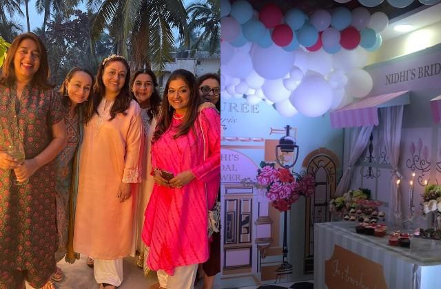 jp dutta daughter nidhi bridal shower party