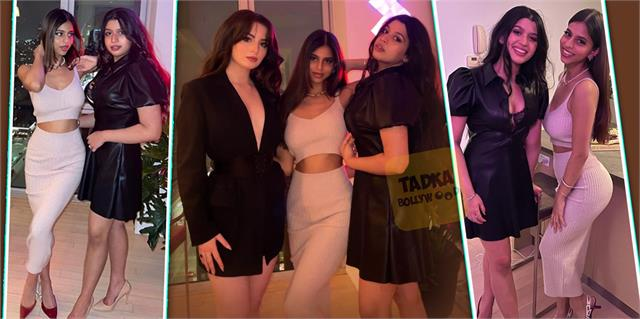 shahrukh khan daughter suhana khan stuns as she poses with friends in new york