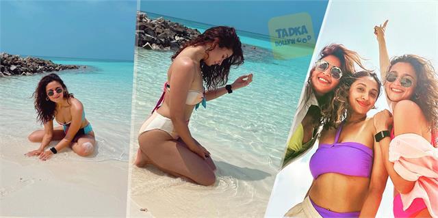 alia and her friends akansha anushka major vacation goals from maldives