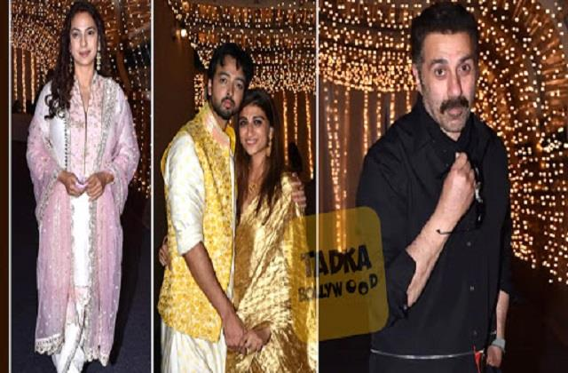 juhi chawla to sunny deol reached priyank and shaza morani pre wedding funtion