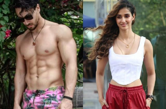 tiger shroff shares hot photos in pink shorts disha patani comments