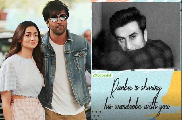 alia bhatt reveals ranbir kapoor sharing his wardrobe with fans