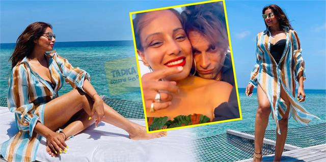 bipasha basu and karan singh grover enjoys romantic vacation in maldives