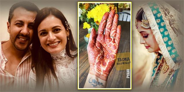 bride to be dia mirza shares photo of mehendi adorned hand