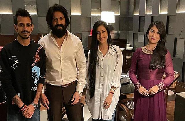 yuzvendra chahal and his wife dhanashree verma met south superstar yash