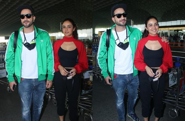 ex bigg boss 14 contestants jasmin bhasin aly goni spotted at airport
