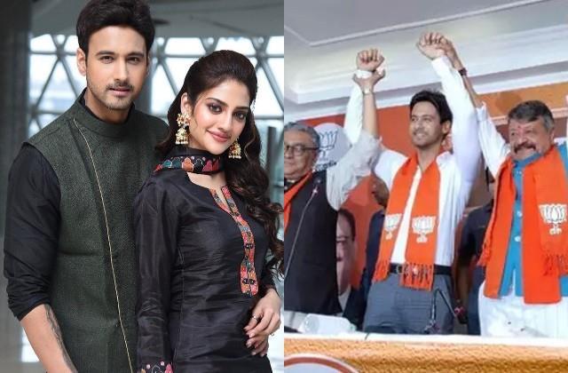 nusrat jahan friend and actor yash dasgupta join bjp