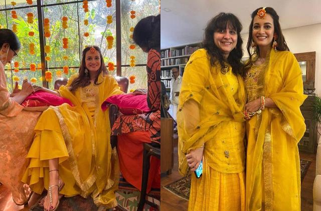 dia mirza looking gorgeous in her mehandi ceremony unseen photos