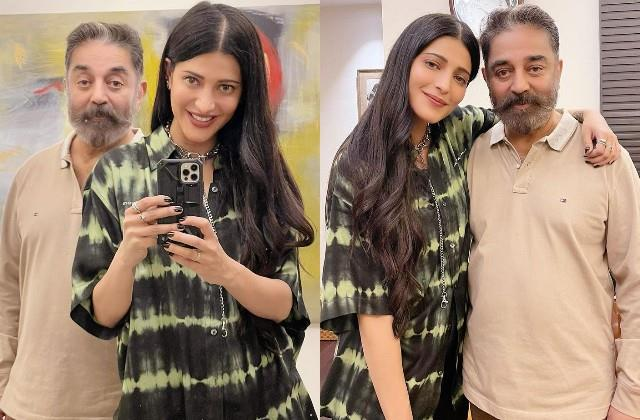 shruti haasan shares photos with father kamal haasan