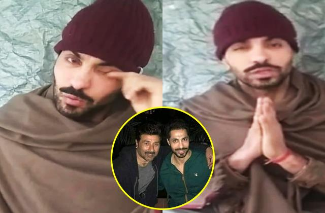 deep sidhu became emotional on live and angry on sunny deol