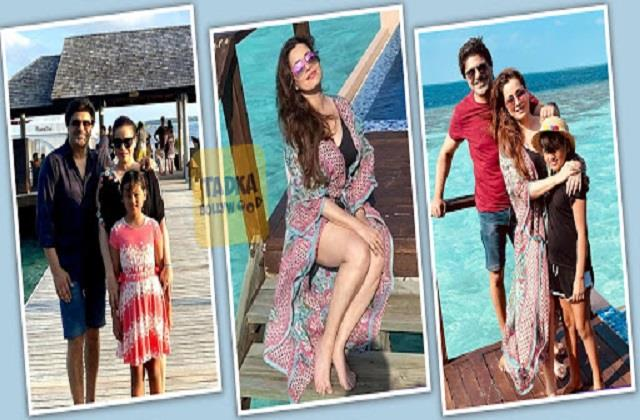 neelam enjoys maldives vacation with husband sameer soni and daughter ahana