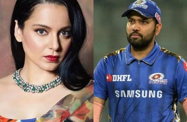 kangana ranaut targets cricketer rohit sharma for farmer protest