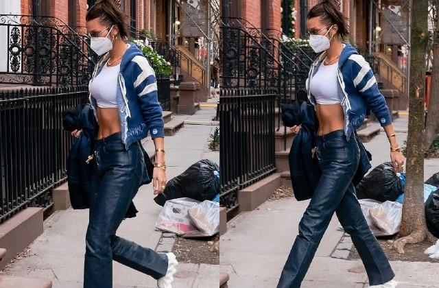 bella hadid spotted in new york
