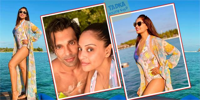 bipasha basu enjoy in maldives with hubby actress flaunts toned body in pictures