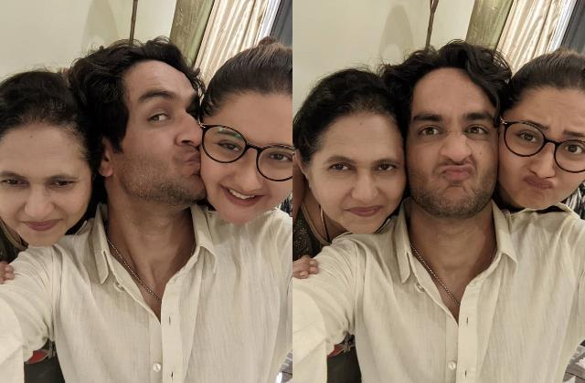after evicted from bigg boss 14 vikas gupta meets rashami desai and her mother