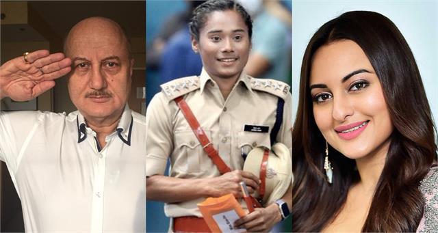 hima das became dsp assam police paresh anupam congratulate her