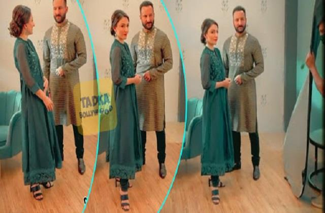 saif ali khan photoshoot with sister soha ali khan video viral