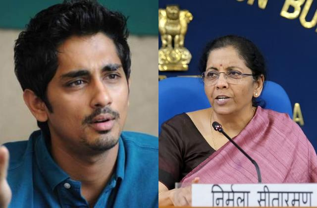 siddharth takes dig on finance minister nirmala sitharaman over fuel price hike