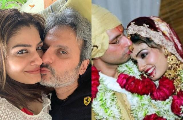 raveena tandon shares throwback photos with anil thadani on wedding anniversary