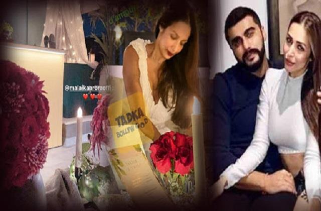 malaika arora and arjun kapoor celebrates valentines day