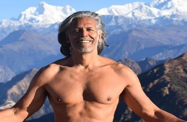 milind soman speaks about his clothes less photo