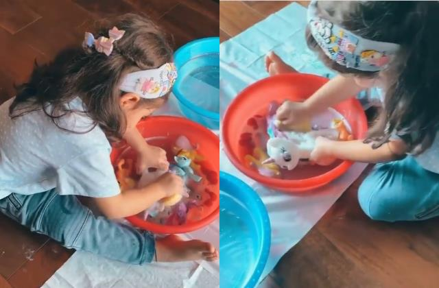 soha ali khan share cute video of daughter inaaya naumi kemmu