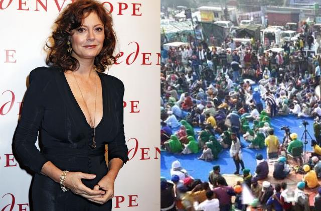 after rihanna oscar winner actress susan sarandon supports farmer protest
