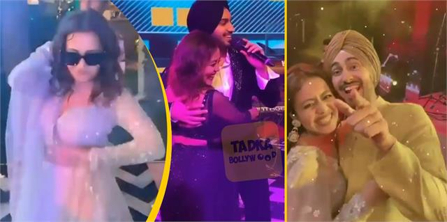 neha kakkar do non stop dance at wedding with hubby rohanpreet singh and friends