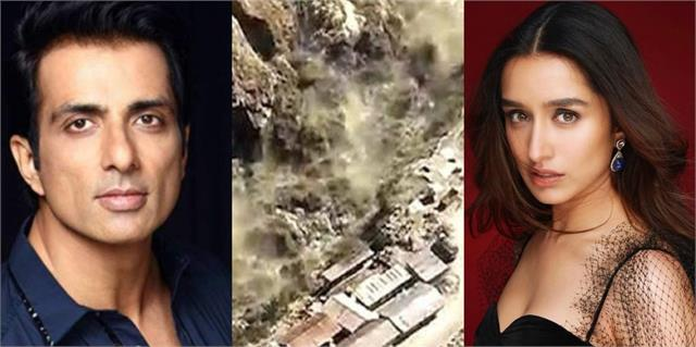 sonu sood and shraddha kapoor expressed grief over uttarakhand accident