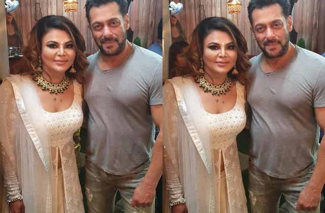 rakhi sawant calls to salman khan god brother photos viral