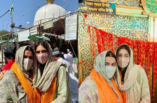 sara ali khan visits ajmer sharif dargah with mother amrita singh