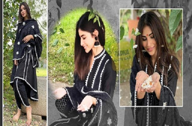 mouni roy shares her latest photos in black suit