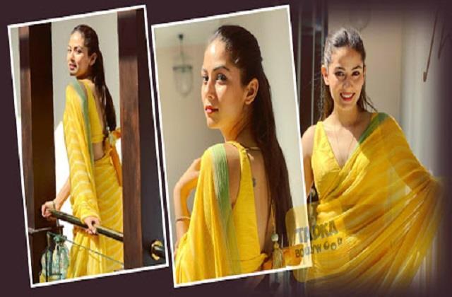 shahid kapoor wife mira rajput share beautiful photo in yellow saree