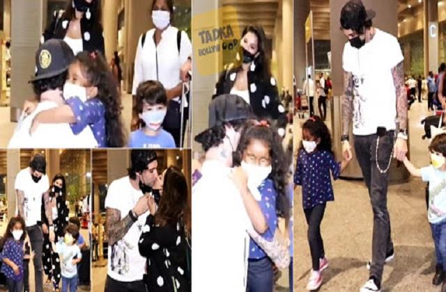 sunny leone daughter nisha hugs daddy daniel weber video viral